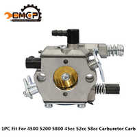 Benzin Kettensäge Vergaser Carb Pinsel Cutter Vergaser Fit KOMATSU 4500 5200 5800 45cc 52cc 58cc Kettensäge Ersatzteile
