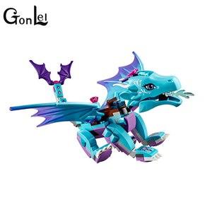 Image 4 - 214 ピース/セット水ドラゴン冒険建設用れんが · ブロックdiyと互換性教育玩具lepiningエルフ