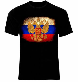 Russia Moscow Russian Arms Flag T-Shirt Cotton O-Neck Short Sleeve Men's T Shirt New Size S-3XL недорого