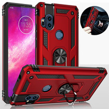 For Motorola Moto G Fast Power One Hyper Vision Case Armor Magnetic Ring Stand Holder Cover for Moto G6 G7 G8 Play E5 E6 Plus Z4(China)