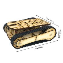 Wooden Tracked Tank Chassis Track Crawler RC Smart Robot Car Education DIY Kit cheap robot tank chassis platform diy chassis smart track huanqi for arduino sinoning sn700