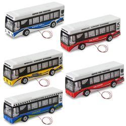 5 pces modelo diecast ônibus 1:87 carros iluminados 12v tt ho escala liga modelo ônibus expresso ebs10003