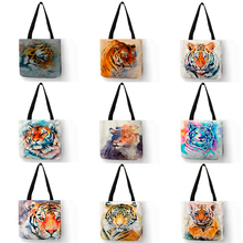 Fashion Cool Tiger Print Women Hand Bag Large Capacity Shopp