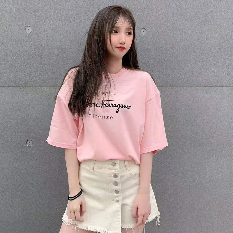 New 2020 Cotton Harajuku Aesthetics Tshirt Sexy Letter Print Short Sleeve Tops & Tees Fashion Casual Couple T Shirt