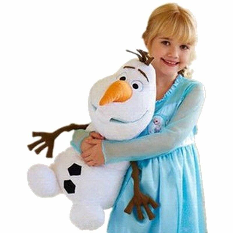 דיסני קפוא 2 23 cm/30 cm/50 cm שלג אולף בפלאש צעצועים ממולא בפלאש בובות Kawaii רך חיות פרווה לילדים חג המולד מתנות