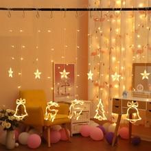 Christmas Decoration for Home Elk Bell String Lights New Year Garland Fairy Christmas Tree Decor Ornament 2019 Navidad Xmas Gift cute angel doll christmas decoration pendant 2020 christmas tree hanging ornament christmas decoration for home xmas navidad