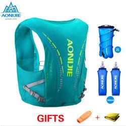 AONIJIE C942 piel avanzada 10 L Paquete de mochila de hidratación chaleco arnés de vejiga de agua senderismo Camping Running carrera maratón S/M