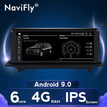 "NaviFly Android 9 CAR GPS for BMW X1 F48 2016 2017 2018 Navigation Multimedia WIFI 4G NO 2 din DVD Player 10.25"" IPS image"