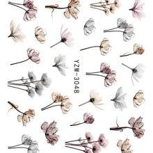 3D рельефные наклейки на ногти Цветок Клей DIY маникюр слайдер ногтей Советы Декоративные наклейки