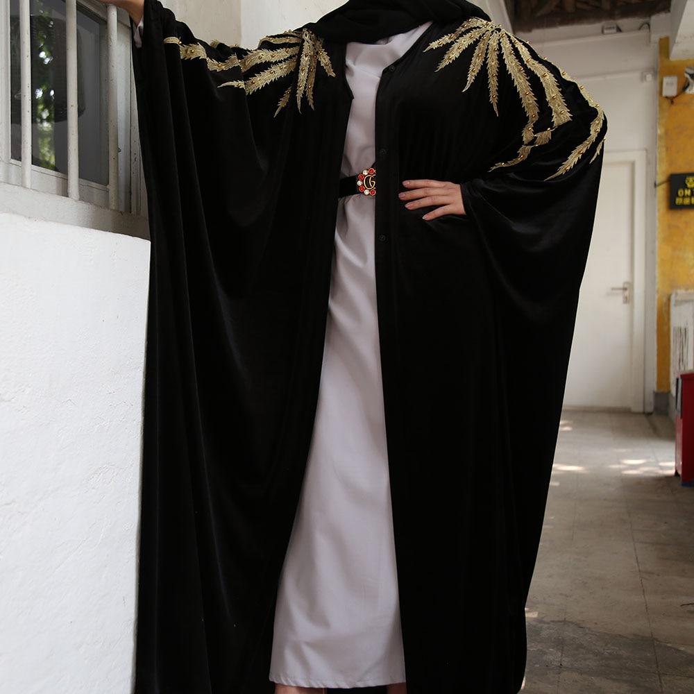 De Abaya Kimono Terciopelo Mujer Hijab musulmán vestido de las mujeres turco vestidos ropa Islam Arabia Saudita Dubai caftán Kaftan Djellaba Nuevo Otoño Invierno Retro Punk mujeres Botas moda cuero genuino botines De Mujer Wram Botas Mujer