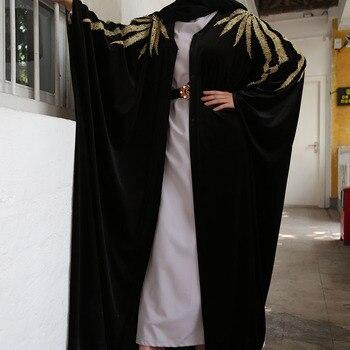 Velvet Abaya Kimono Terciopelo Mujer Hijab Muslim Dress Women Turkish Dresses Islam Clothing Saudi Caftan Dubai Kaftan Djellaba