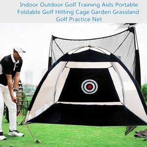 Kryty do golfa outdoorowe pomoce szkoleniowe przenośny składany Golf uderzający klatka ogród użytki zielone Golf siatka treningowa