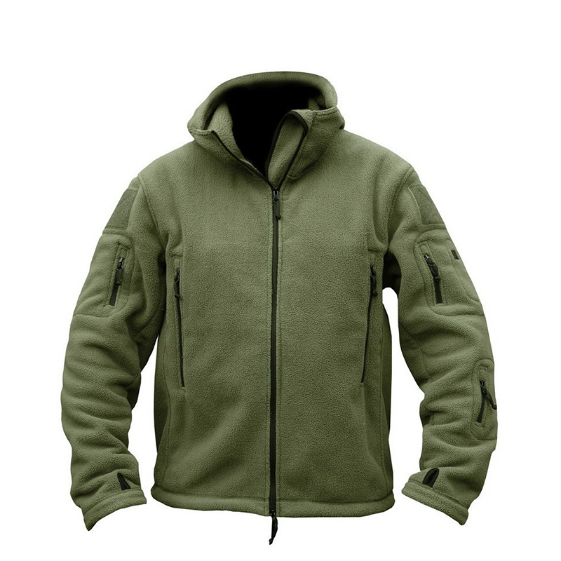 TACVASEN Winter Airsoft Military Jacket Men Fleece Army Tactical Jacket Thermal Hooded Jacket Coat Outerwear Hoody Mens Clothing