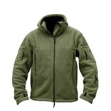 TACVASEN Winter Airsoft Military Jacket Men Fleece Army Tactical Jacket