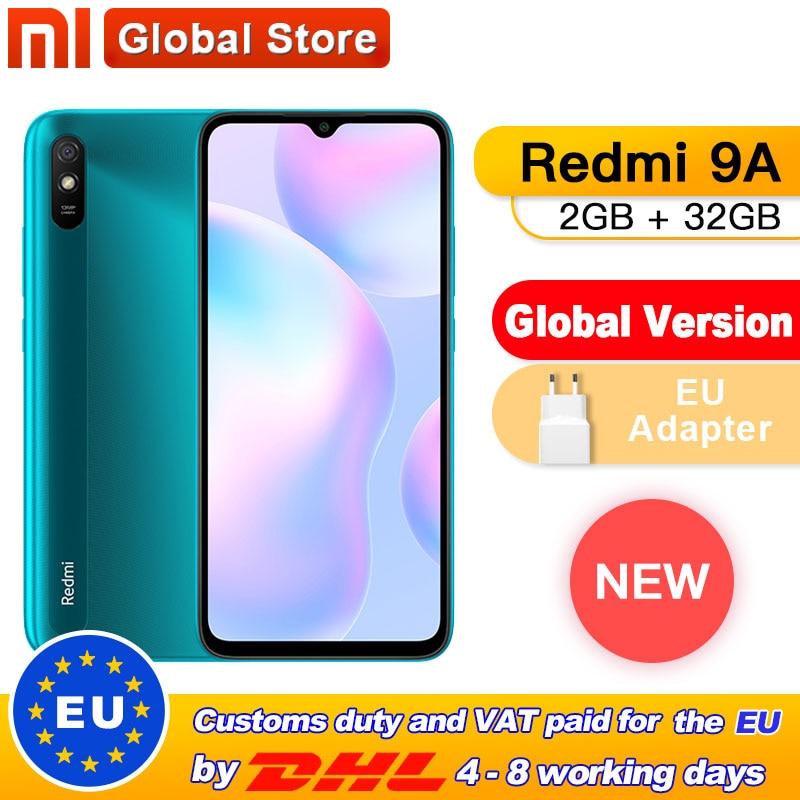 Xiaomi Redmi 9A Mobile-Phone 32GB 13MP New Global-Version Octa-Core 5000 G25 5000mah-13mp-Camera