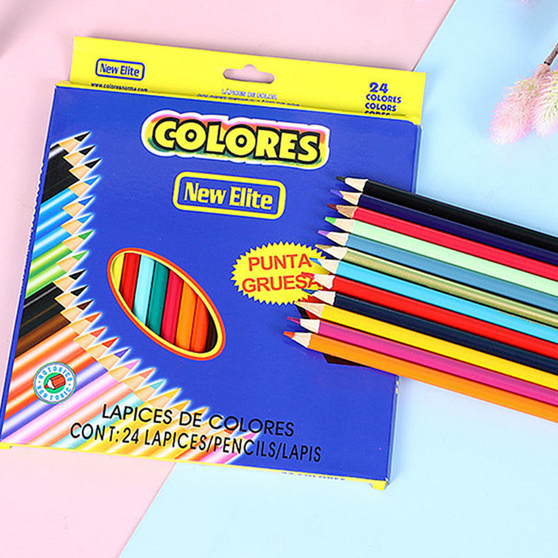Милые Мультяшные цветные карандаши, Детские граффити, рисунок, гелевая ручка для детей и взрослых, игрушки «сделай сам», карандаши, школьные...