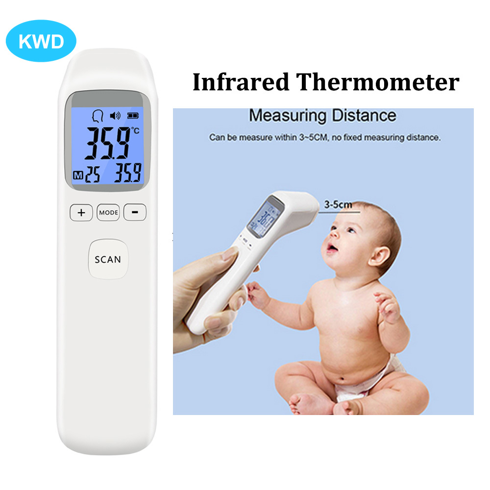 Digital Infrared Thermometer Non-Contact Baby Forehead Adult Body Surface Fever IR Children Temperature Meter