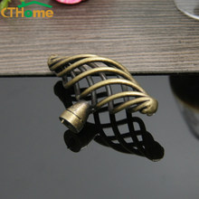 Birdcage Antique Copper Shoe Cabinet Handle Drawer Pulls Kitchen Dresse Cabinet Door Knobs and Handles Furniture Zinc Alloy(China)