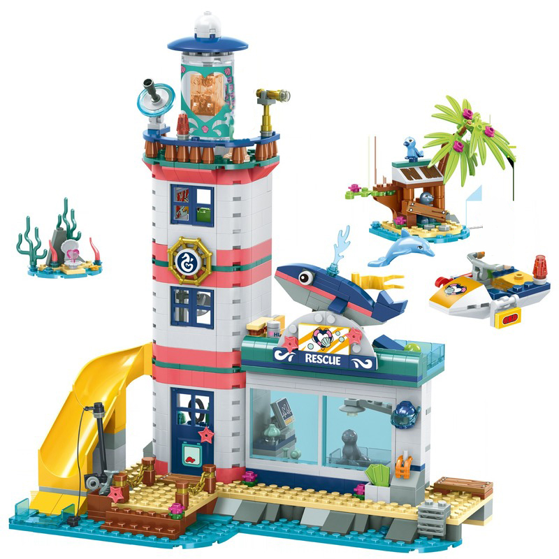 Girl Friends Lighthouse Rescue Center Building Block Compatible Friends 41380 Brick Toys For Girls Toys For Children