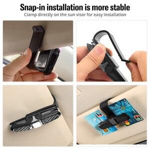Image 2 - FONKEN 자동차 안경 홀더 안경 카드 보관 클립 자동 썬 바이저 인테리어 구성 액세서리 자동차 선글라스 홀더
