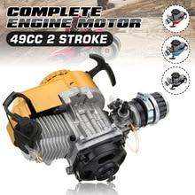 49cc 2 Stroke Mototcycle Complete Engine Motor With Air Filter Carburetor Bike Mini Dirt ATV Quad