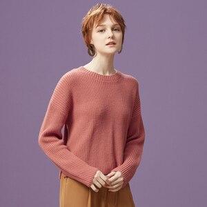 Image 5 - Metersbonwe 綿ニットセーター女性プルオーバータートルネック秋冬基本女性 sweatersr ローズピンクルーズフィット