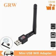 Grwibeou USB Wifi Adapter 150Mbps 2dB Antenna Network Lan Card PC Wi-fi Receiver Wireless Portable hot sale