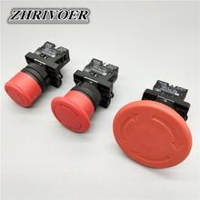 цена на 22mm XB2-ES542 XB2-ES442 XB2-ES642 Red Mushroom Emergency Stop Switch NC Push Button Switch 10A/415V