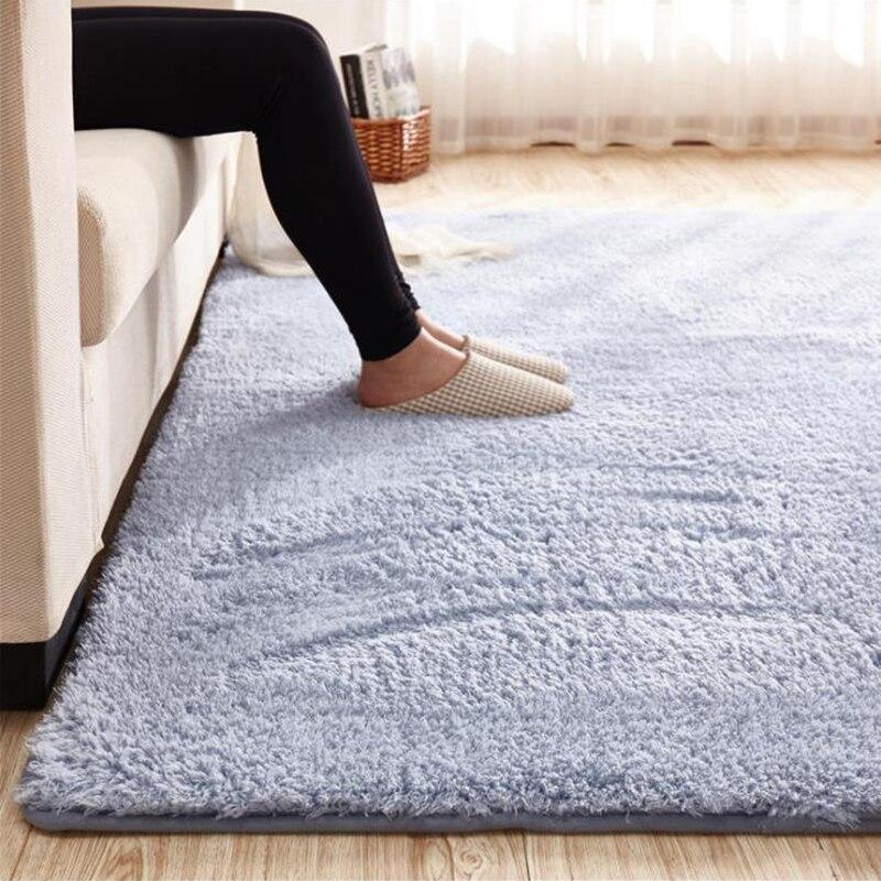 Lambswool Carpet Thicken 2021 Living Bedroom Bedside Carpet Non-slip Kid Play Crawling Rug Plush Hanging basket balcony mat Gray