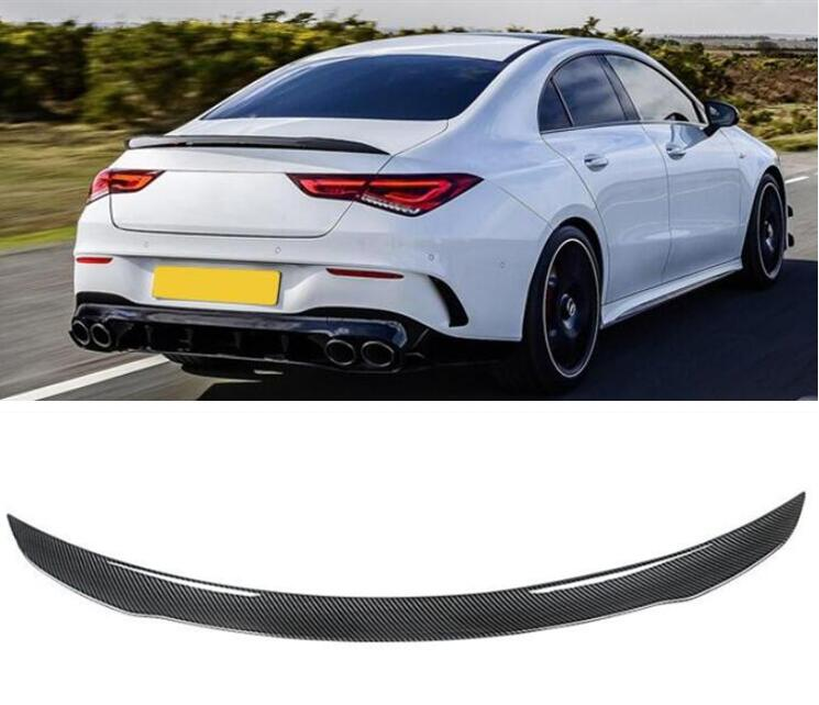 ABS / CARBON FIBER REAR WING TRUNK LIP SPOILER FOR Mercedes Benz W118 C118 CLA35 CLA45 CLA180 CLA200 <font><b>CLA250</b></font> AMG 2019 2020 2021 image