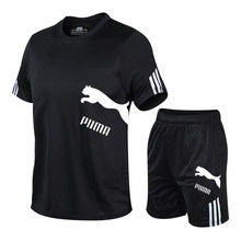 Men's Tracksuit Summer Clothes Sportswear Two Piece Set T Shirt Shorts Brand Track Clothing Male