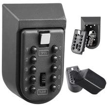 새로 미니 알루미늄 합금 벽 마운트 키 안전 상자 홈 안전 비밀 번호 보안 잠금 스토리지 박스 보안 장비