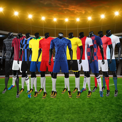 Latest Male Adults Kids Soccer Jersey Set Football Uniforms Men Soccer Uniforms Sets Custom Sports Uniforms Soccer Shirts