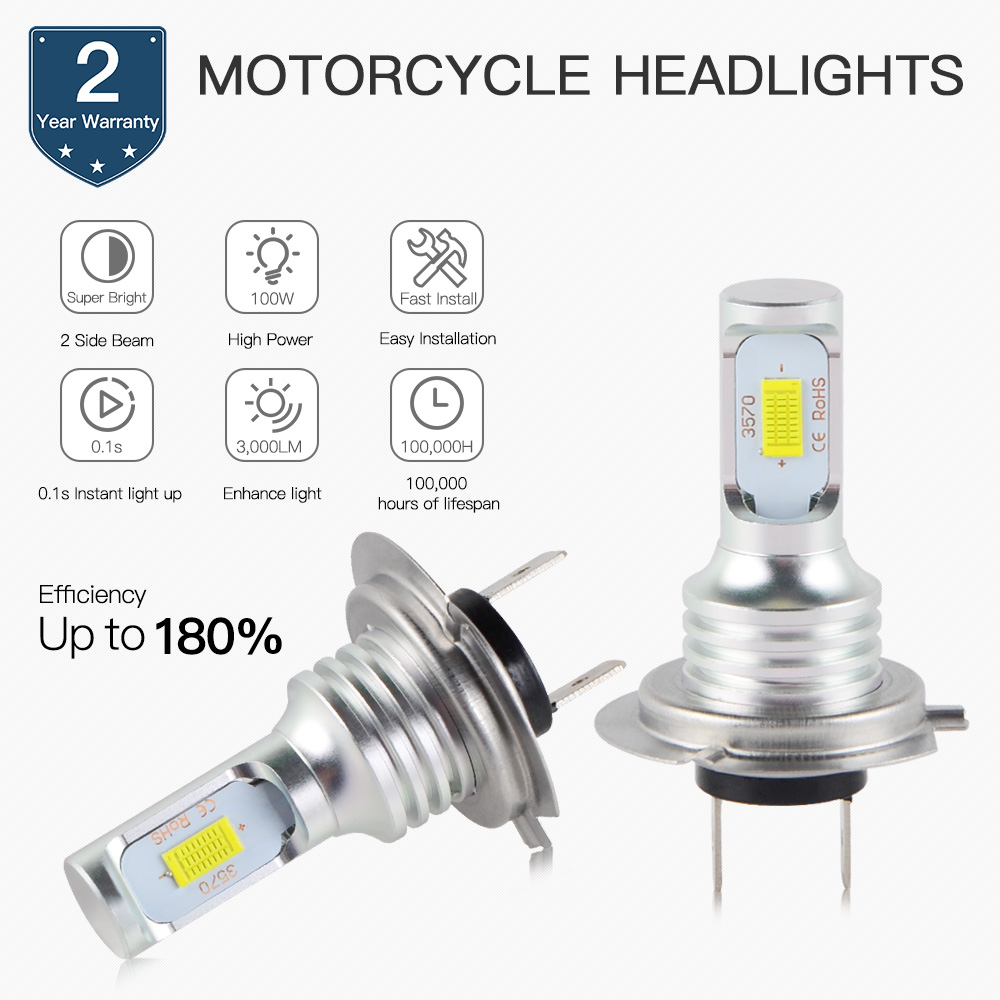 LED Moto Phare H1 H3 H4 P15 BA20D H7 H9 H11/H8 9005 9006 880 881 Ampoule 6500K h4 LED h7 Lampe Frontale