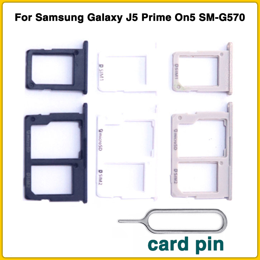 new <font><b>Sim</b></font> <font><b>Card</b></font> Tray For <font><b>Samsung</b></font> Galaxy J5 Prime On5 SM-G570 J7 Prime On7 SM-G610 2016 <font><b>Sim</b></font> Holder <font><b>Card</b></font> Slot + <font><b>card</b></font> pin image