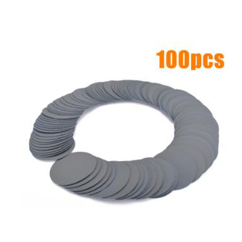 100pcs 3 Inch 75mm 3000 Grit Sanding Papers Woodworking Polishing Finishing Round Sandpaper Disk Sand Sheet