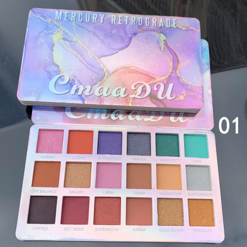 CmaaDu 18 цветов Тени для век Палитра матовые тени для век мерцающие тени для век пигментированные палитра для макияжа Косметика TSLM2|Тени для век|   | АлиЭкспресс