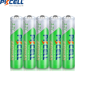 Image 2 - 16 adet PKCELL 850mAh 1.2V AAA NI MH şarj edilebilir pil Ni Mh ön şarjlı pil aaa piller + 4 adet pil kutusu kutuları