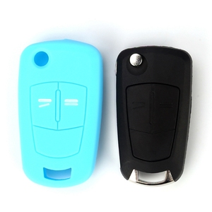 Image 3 - Hot silicone car key cover case shell fob for Vauxhall Opel Corsa Astra Vectra Signum 2 Buttons  remote key shell