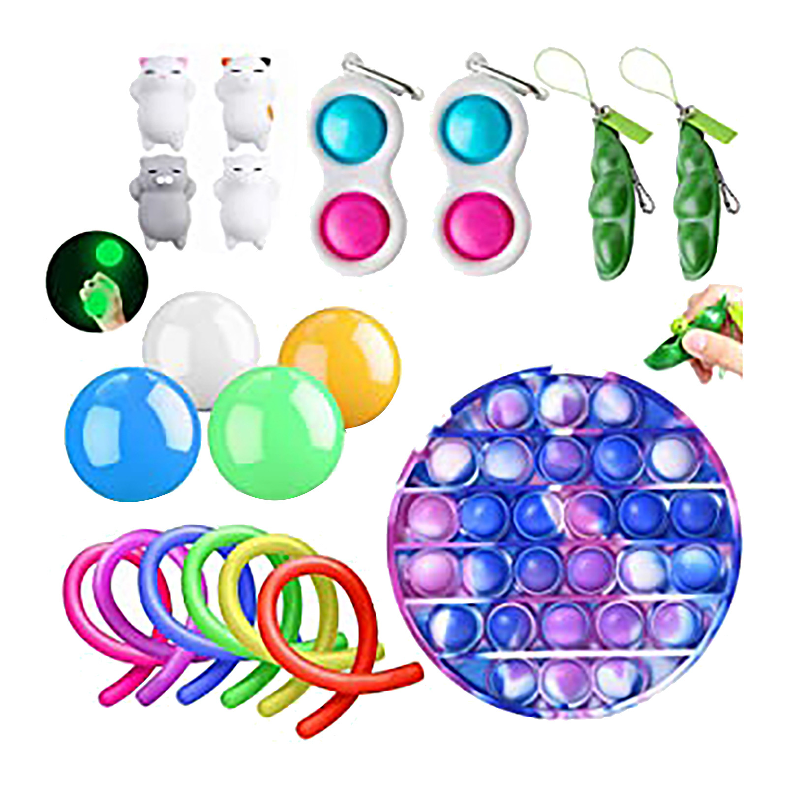 Push Bubble popit Autism New Fidget Toys Special Needs Stress Reliever Helps Relieve Stress and Increase Focus Soft Squeeze Toy