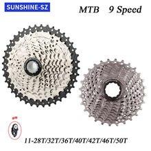 Luz do sol cassete 9 velocidade bicicletas cassete volante 9s 32/36/40/42/46/50t para shiman0 m370 m390 m4000 m590 sram 9 v