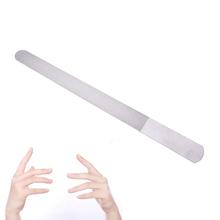 Edelstahl Dual Seitige Nagel Datei Metall Schleifen Stange Peeling Nagel Kunst Datei Maniküre Pediküre Werkzeug 17 6*0 9 cm Hohe qualität tanie tanio JCSYFAC CN (Herkunft) Eine Einheit Kein 17 6*0 9cm Stainless Nail File