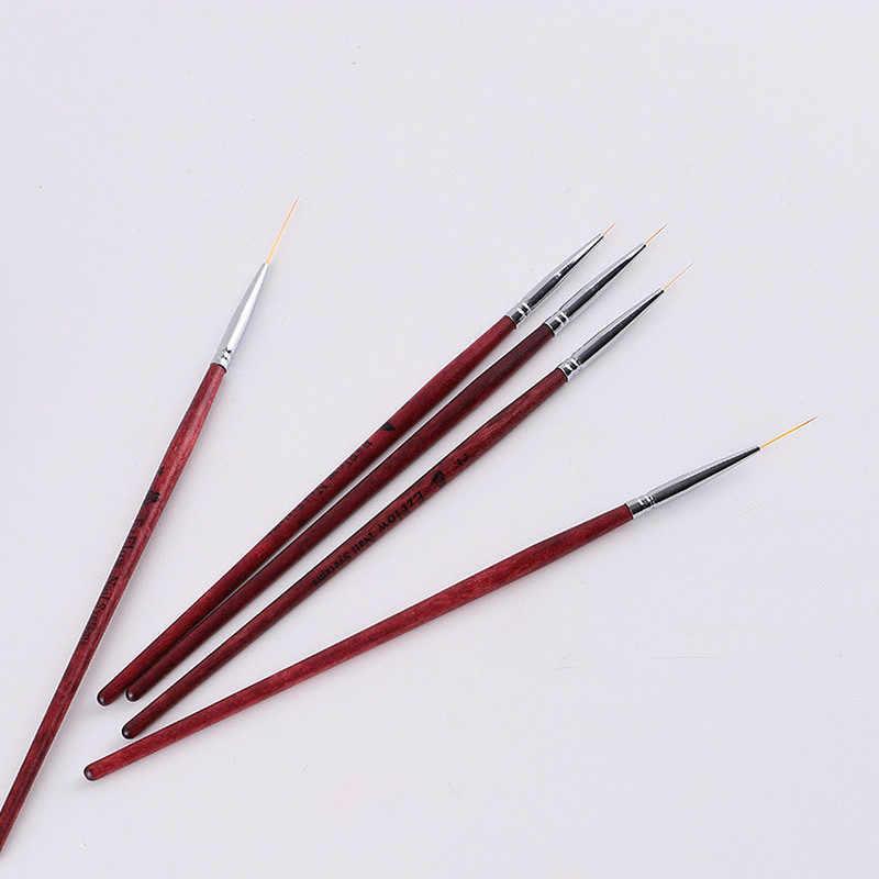 1Pc Olie Penseel Houten Handel Nylon Haar Verschillende Grootte Haak Lijn Pen Voor Aquarel Gouache Acryl Schilderen Art gereedschap