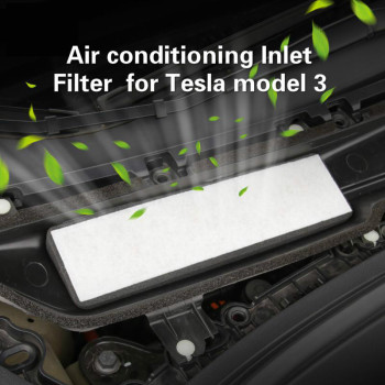 Bafire 1 Pc Air Conditioning Inlet Filter External Element For Tesla Model 3 Filters