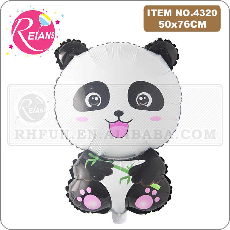 Kartun Panda Balon Foil China National Harta Karun Pesta Ulang Tahun Dekorasi Beruang Hewan Anak-anak Balon Udara Globos Helium Ball