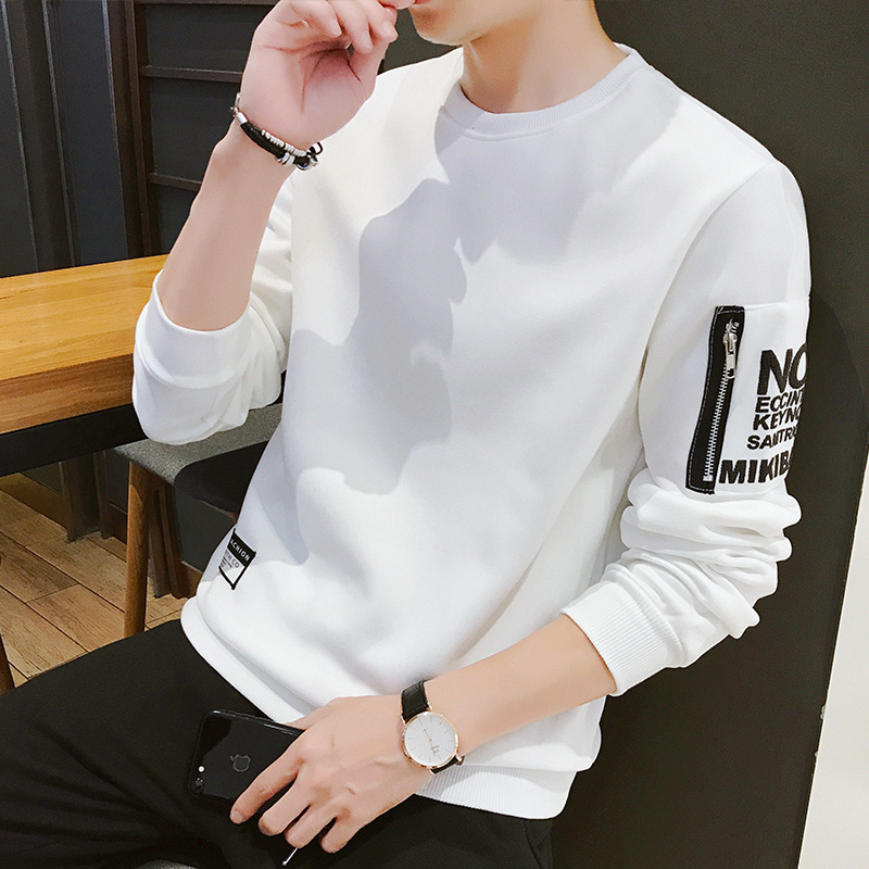 White Hoodies Men 2020 Print Letter Mens Hoodies Dress No Hood Zipper Streetwear Pullovers Sweatshirts Mens Clothing Homme 4XL