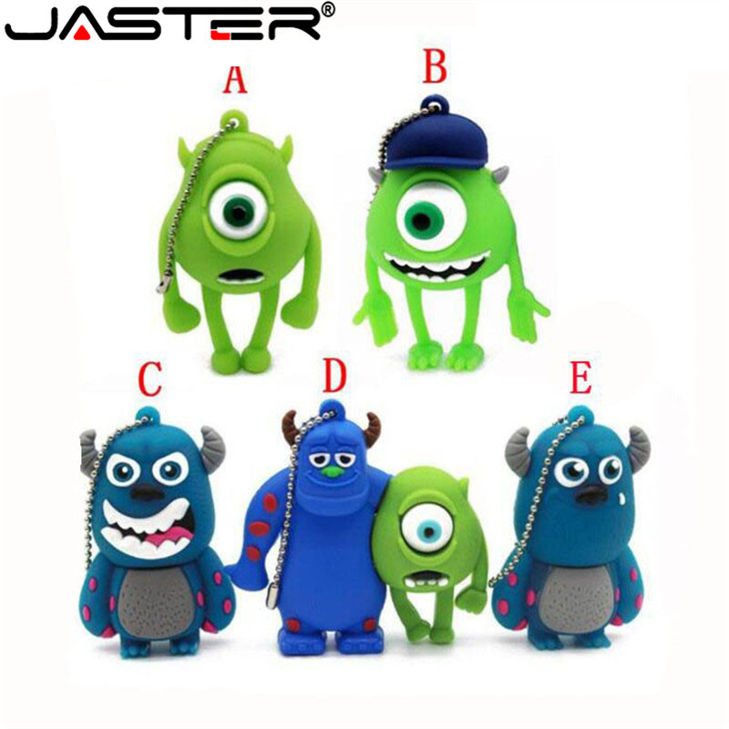 JASTER Monsters University Mike USB Flash Drive Lovely Cartoon Pendrive 4GB/16GB/32GB/64GB Special Gift Memory Stick Usb Disk