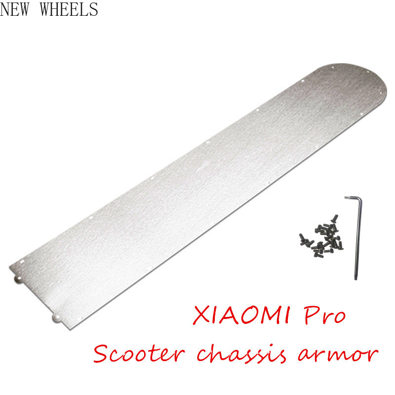 XIAOMI PRO electric scooter parts Stainless steel base plate Battery compartment cover Scooter chassis armor MIJIA accessories