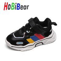 Popular Boy Gym Shoes For Kids Black Boy Mesh PU Leather Running Shoes Low Top Toddler Sneakers Brand Child Boy School Flat Shoe