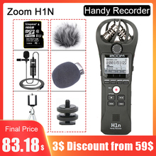 Original ZOOM H1N Handy Recorder DSLR Audio Video Interview Stereo Microphone with 16GB Card BY M1 Lavalier Microphone